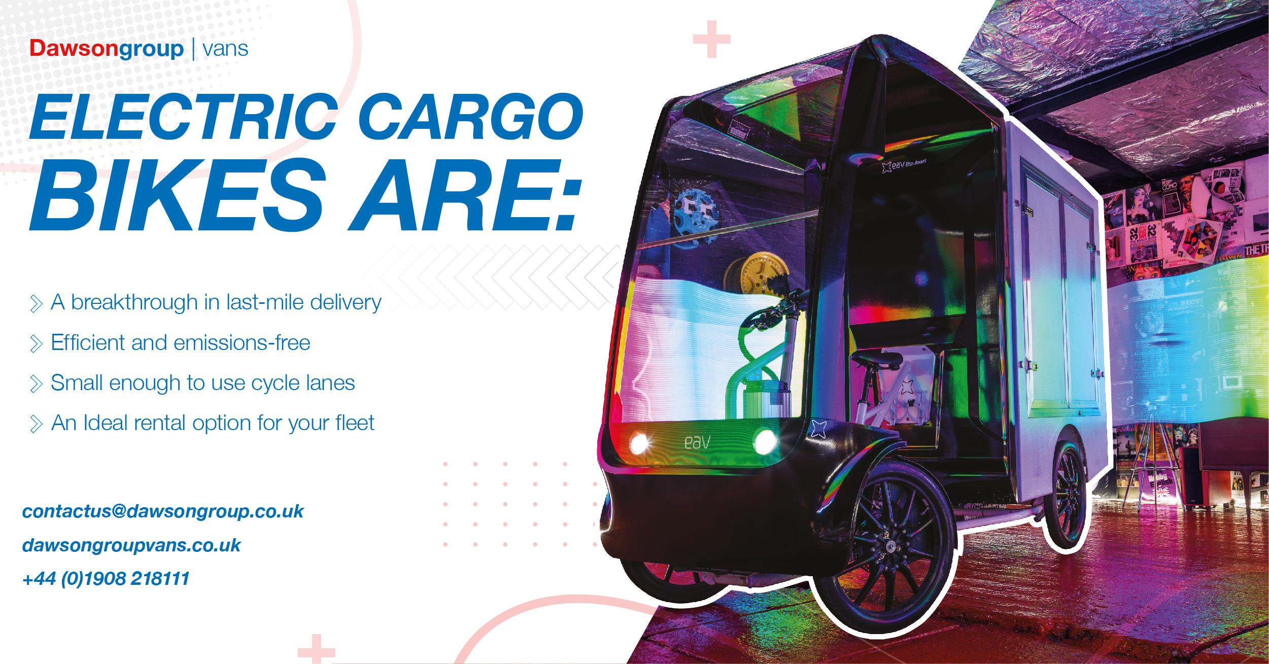 Electric cargo bikes are